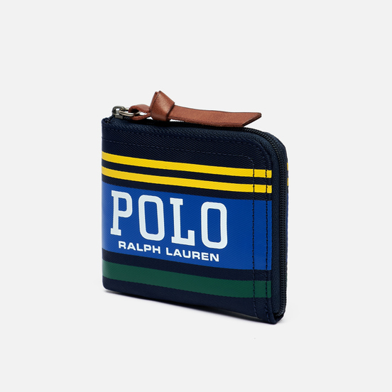 Кошелек Polo Ralph Lauren Big Polo Zip Nylon Navy/Yellow/Green