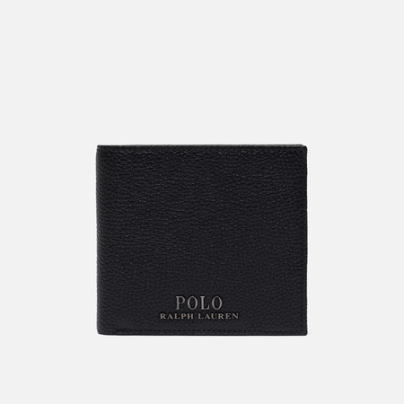 Кошелек Polo Ralph Lauren Logo PRL Pebbel Leather Bill Coin Black