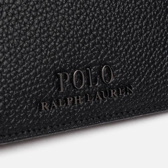 Кошелек Polo Ralph Lauren Logo PRL Pebbel Leather Bill Coin Black