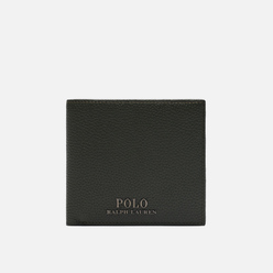 Кошелек Polo Ralph Lauren Logo PRL Pebbel Leather Bill Coin Olive