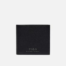 Кошелек Polo Ralph Lauren Logo PRL Pebbel Leather Billfold Black фото- 0