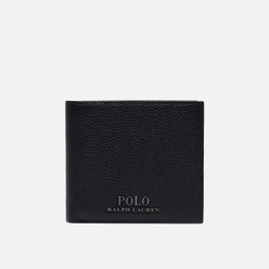 Кошелек Polo Ralph Lauren Logo PRL Pebbel Leather Billfold Black