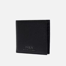 Кошелек Polo Ralph Lauren Logo PRL Pebbel Leather Billfold Black фото- 1