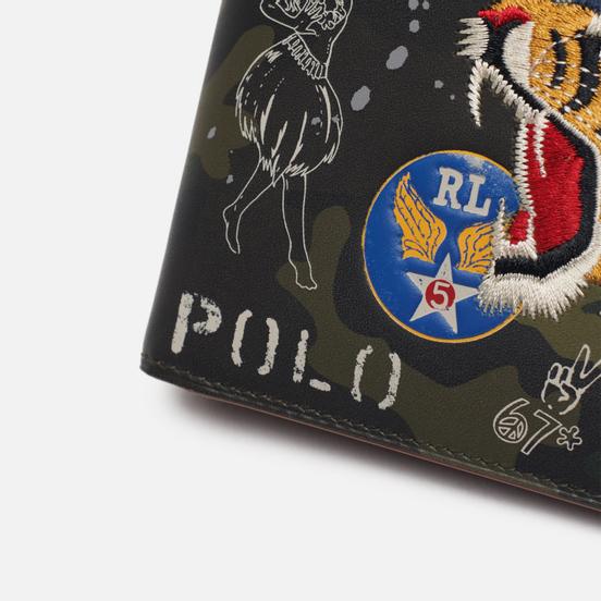 Кошелек Polo Ralph Lauren Military Smooth Leather Billfold Camouflage