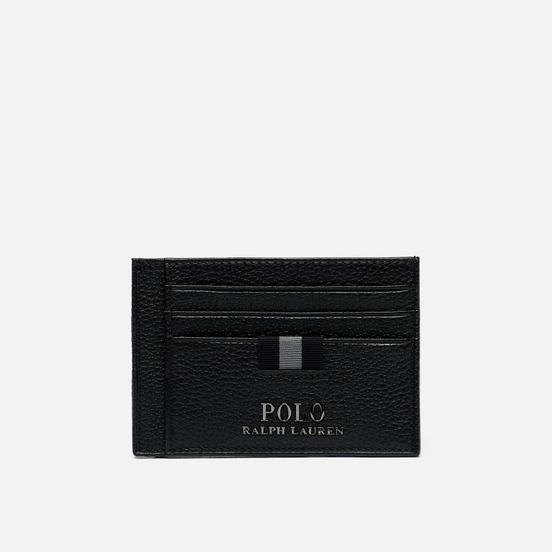 Кошелек Polo Ralph Lauren Money Clip Pebble Leather Black