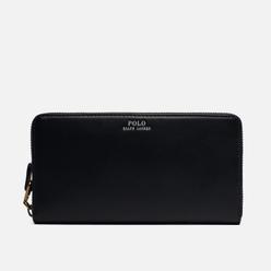 Кошелек Polo Ralph Lauren Nappa Leather Long Zip Black