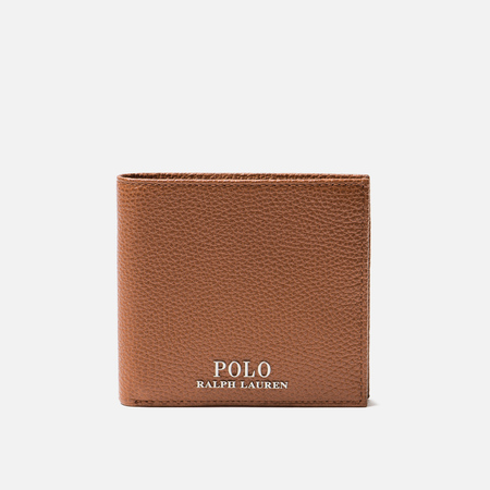 Кошелек Polo Ralph Lauren PRL Logo Pebble Leather Bill Coin Tan