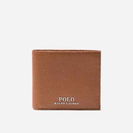 Кошелек Polo Ralph Lauren PRL Logo Pebble Leather Billfold Tan