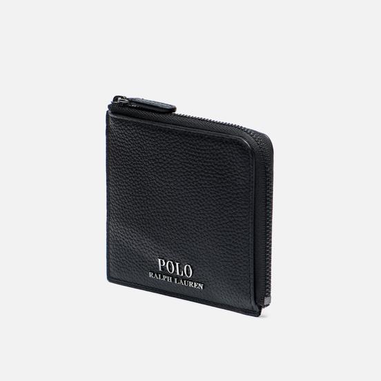 Кошелек Polo Ralph Lauren PRL Small Zip Pebble Leather Black