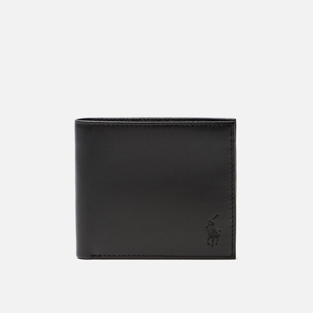 Кошелек Polo Ralph Lauren Small Billfold Stripe Smooth Leather Black