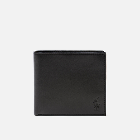 Кошелек Polo Ralph Lauren Small Smooth Leather Stripe Black