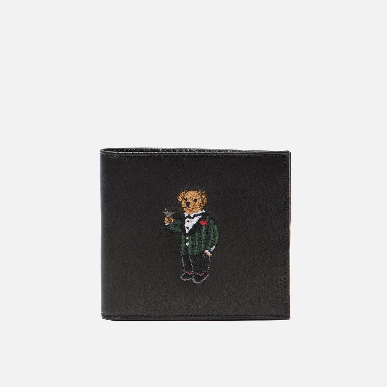 Кошелек Polo Ralph Lauren Tartan Bear Billfold Small Smooth Leather Black