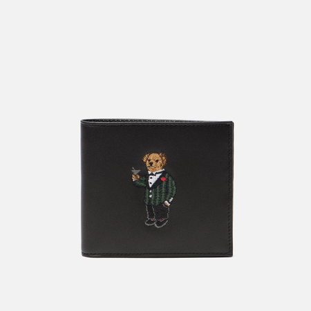 Кошелек Polo Ralph Lauren Tartan Bear Billfold Small Smooth Leather Black