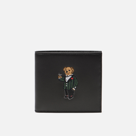 Кошелек Polo Ralph Lauren Tartan Bear Coin Small Smooth Leather Black