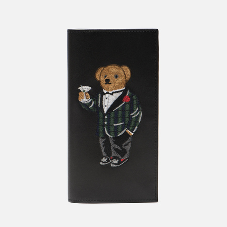 Кошелек Polo Ralph Lauren Tartan Bear Continental Smooth Leather Black