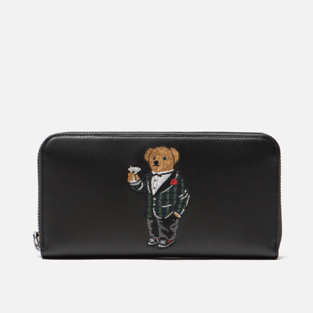 Кошелек Polo Ralph Lauren Tartan Bear Zip Around Smooth Leather Black