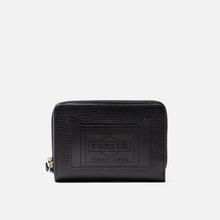 Кошелек Porter-Yoshida & Co Glaze Leather Bi-Fold Black фото- 0
