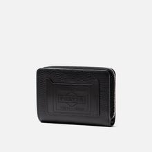 Кошелек Porter-Yoshida & Co Glaze Leather Bi-Fold Black фото- 1
