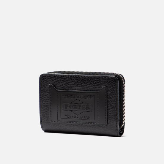 Кошелек Porter-Yoshida & Co Glaze Leather Bi-Fold Black