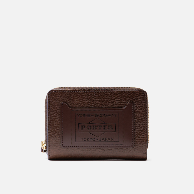 Кошелек Porter-Yoshida & Co Glaze Leather Bi-Fold Brown