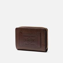 Кошелек Porter-Yoshida & Co Glaze Leather Bi-Fold Brown фото- 1