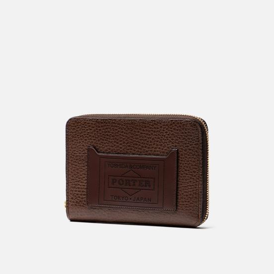 Кошелек Porter-Yoshida & Co Glaze Leather Passport Case Brown