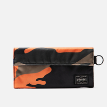 Кошелек Porter-Yoshida & Co PS Camo Long Woodland Orange фото- 0