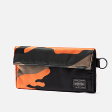 Кошелек Porter-Yoshida & Co PS Camo Long Woodland Orange фото- 1