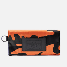 Кошелек Porter-Yoshida & Co PS Camo Long Woodland Orange фото- 2