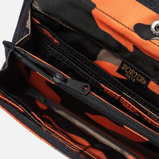Кошелек Porter-Yoshida & Co PS Camo Long Woodland Orange