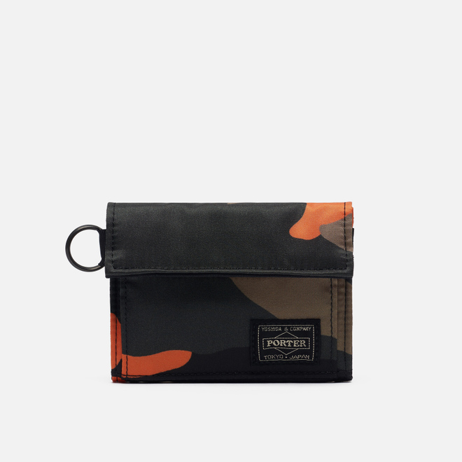 Кошелек Porter-Yoshida & Co PS Camo Medium Woodland Orange