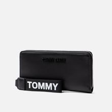 Кошелек Tommy Jeans Large Logo Black фото- 1