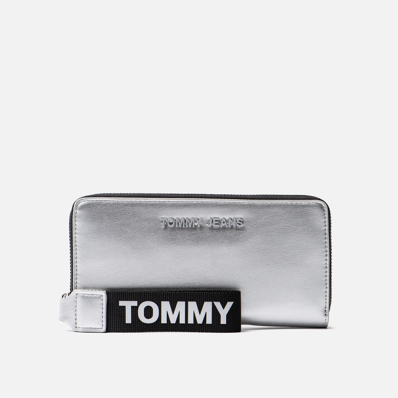Кошелек Tommy Jeans Large Metallic Silver