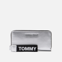 Кошелек Tommy Jeans Large Metallic Silver фото- 0