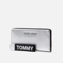 Кошелек Tommy Jeans Large Metallic Silver фото- 1