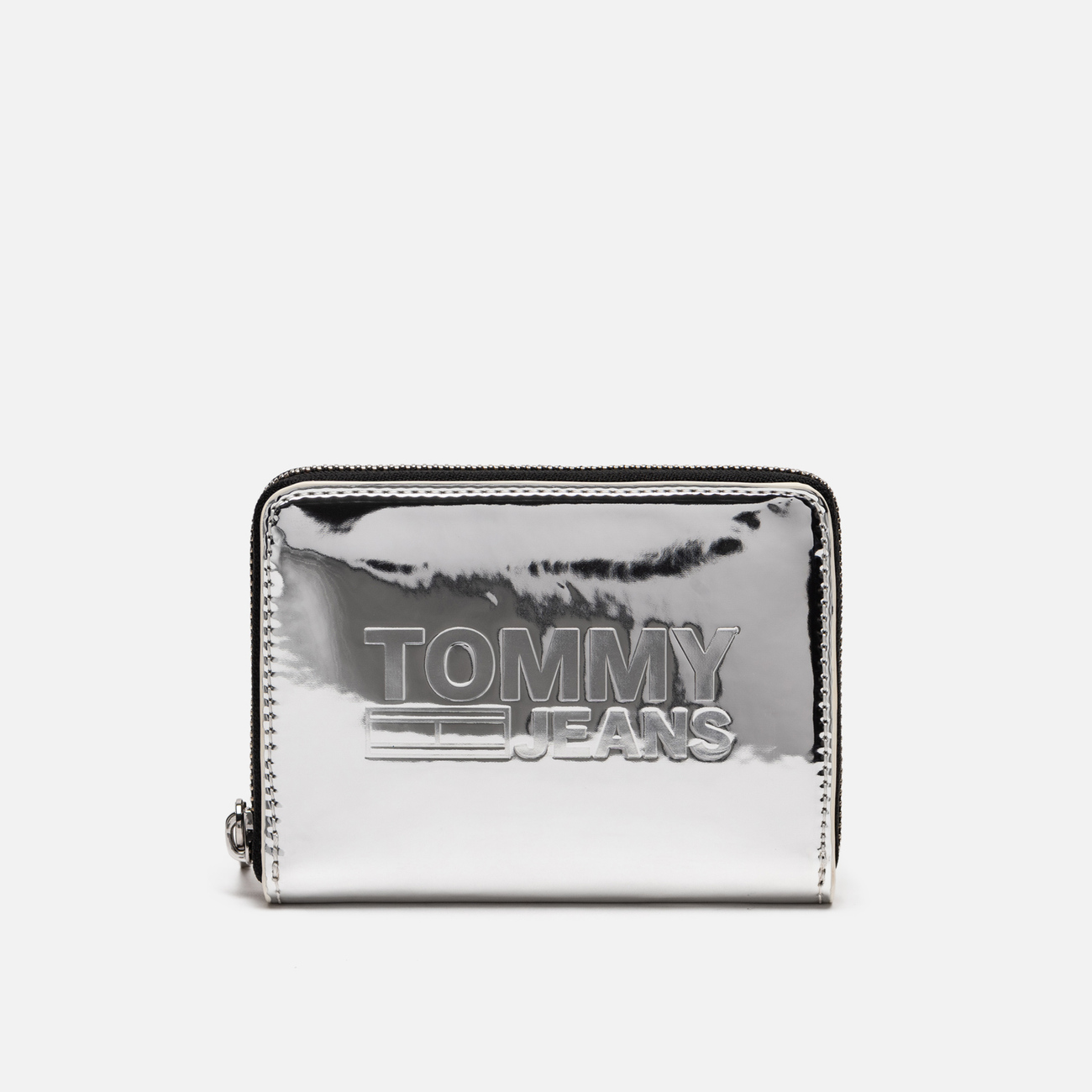 Кошелек Tommy Jeans Texture Small Zip Around Silver Metallic