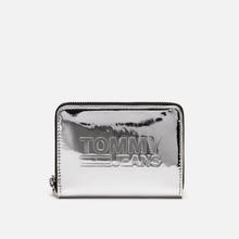Кошелек Tommy Jeans Texture Small Zip Around Silver Metallic фото- 0