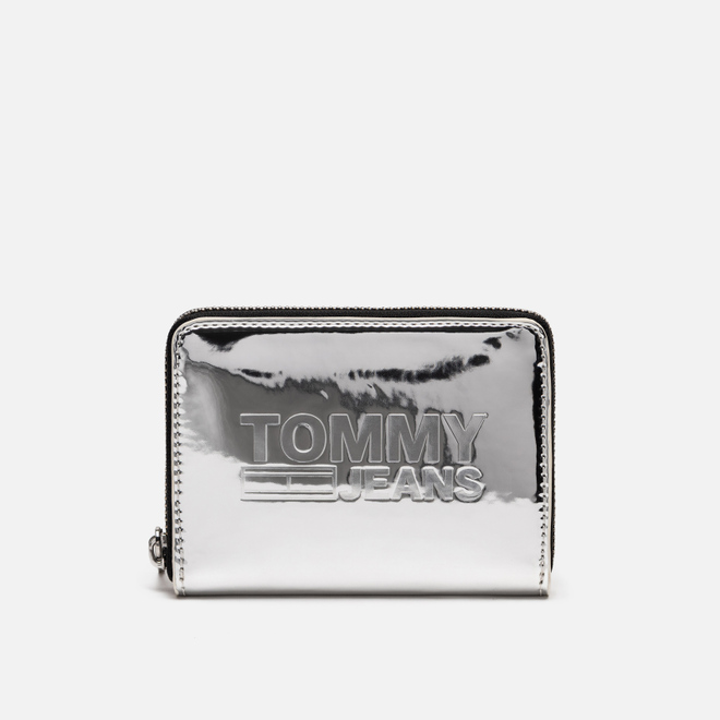 Кошелек Tommy Jeans Texture Small Zip Around Silver Metallic