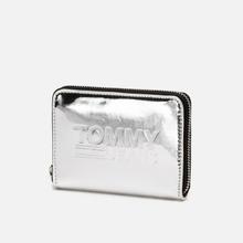Кошелек Tommy Jeans Texture Small Zip Around Silver Metallic фото- 1