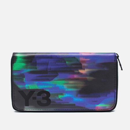 Y-3 Zip Long Print Detritus Wallet Black