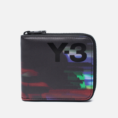 Y-3 Zip Print Detritus Wallet Black