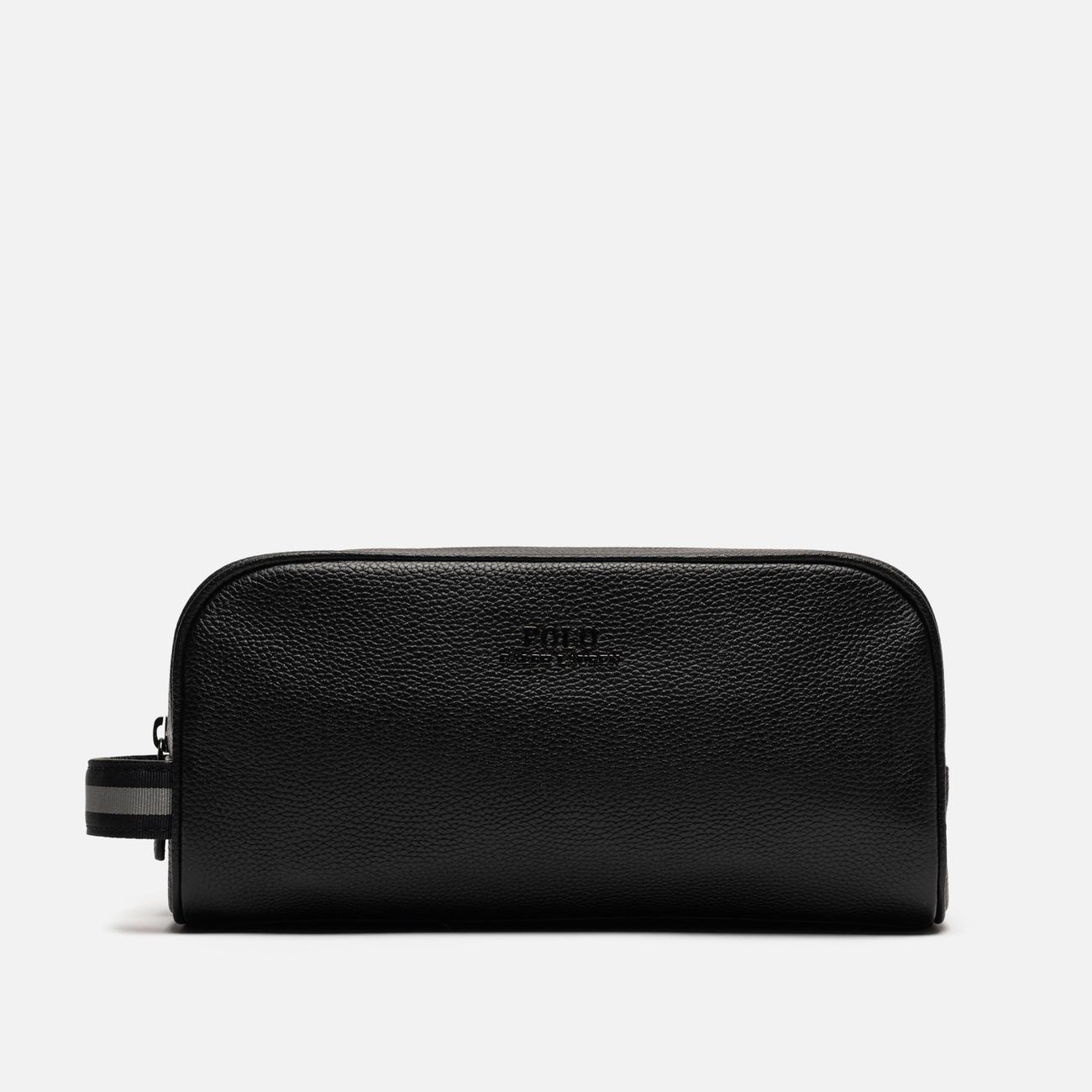Косметичка Polo Ralph Lauren Tailored Pebble Leather Travel Small Black