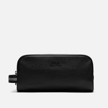 Косметичка Polo Ralph Lauren Tailored Pebble Leather Travel Small Black фото- 0