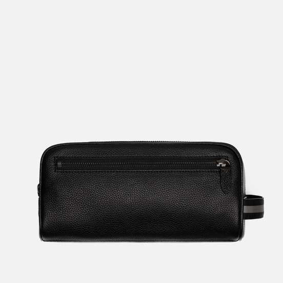 Косметичка Polo Ralph Lauren Tailored Pebble Leather Travel Small Black