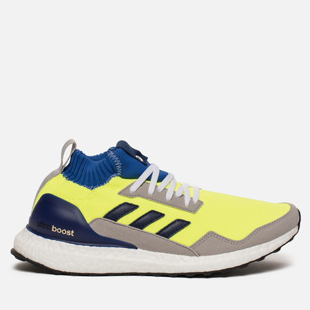 Кроссовки adidas Consortium Ultra Boost Mid Solar Yellow/Night Navy/Hi-Res Blue