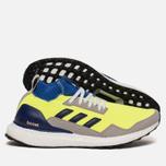 Кроссовки adidas Consortium Ultra Boost Mid Solar Yellow/Night Navy/Hi-Res Blue фото- 1