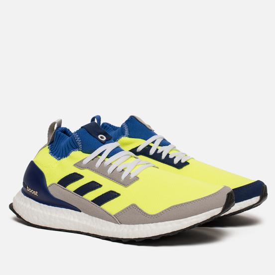 Кроссовки adidas Consortium Ultra Boost Mid Solar Yellow/Night Navy/Hi-Res Blue
