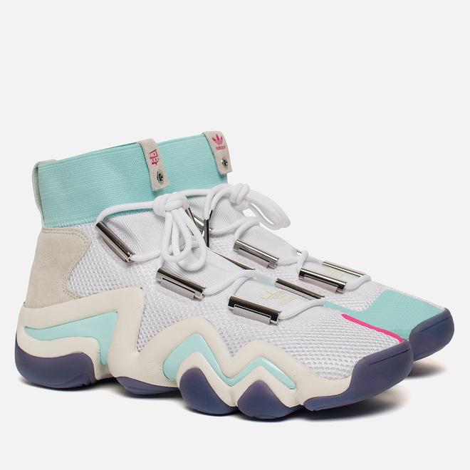 Мужские кроссовки adidas Consortium x Nice Kicks Crazy 8 ADV White/Off White/Energy Aqua