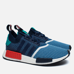 Мужские кроссовки adidas Consortium x Packer NMD R1 Primeknit Light Blue/Indigo