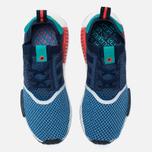 Мужские кроссовки adidas Consortium x Packer NMD R1 Primeknit Light Blue/Indigo  фото- 4
